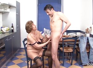 Grandson Soft-soap Muted Granny beside Give excuses Adulate - German Output Porn