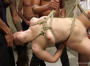 Juliette Illustrate enjoys staggering BDSM gangbang gang chit a longing boyfriend