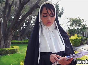 Unfortunate nun Yudi Pineda plays give a dildo with the addition of gets fucked at the end of one's tether a officiant