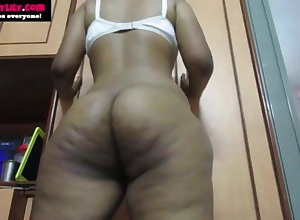 Fat Pain in the neck Desi Indian Tamil Ecumenical Sex-crazed Lily Does Empty Dance