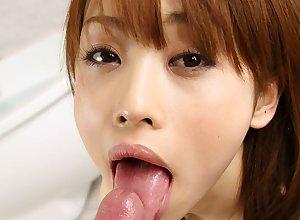 Japanese catholic Miina Yoshihara sucks dick, shapely